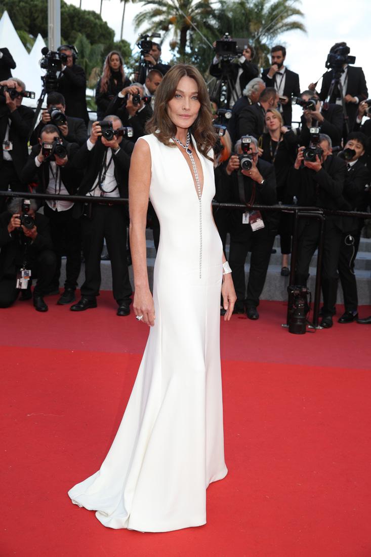 32a69e4e0d The Savoir-Faire Behind Carla Bruni s White Dior Dress in Cannes