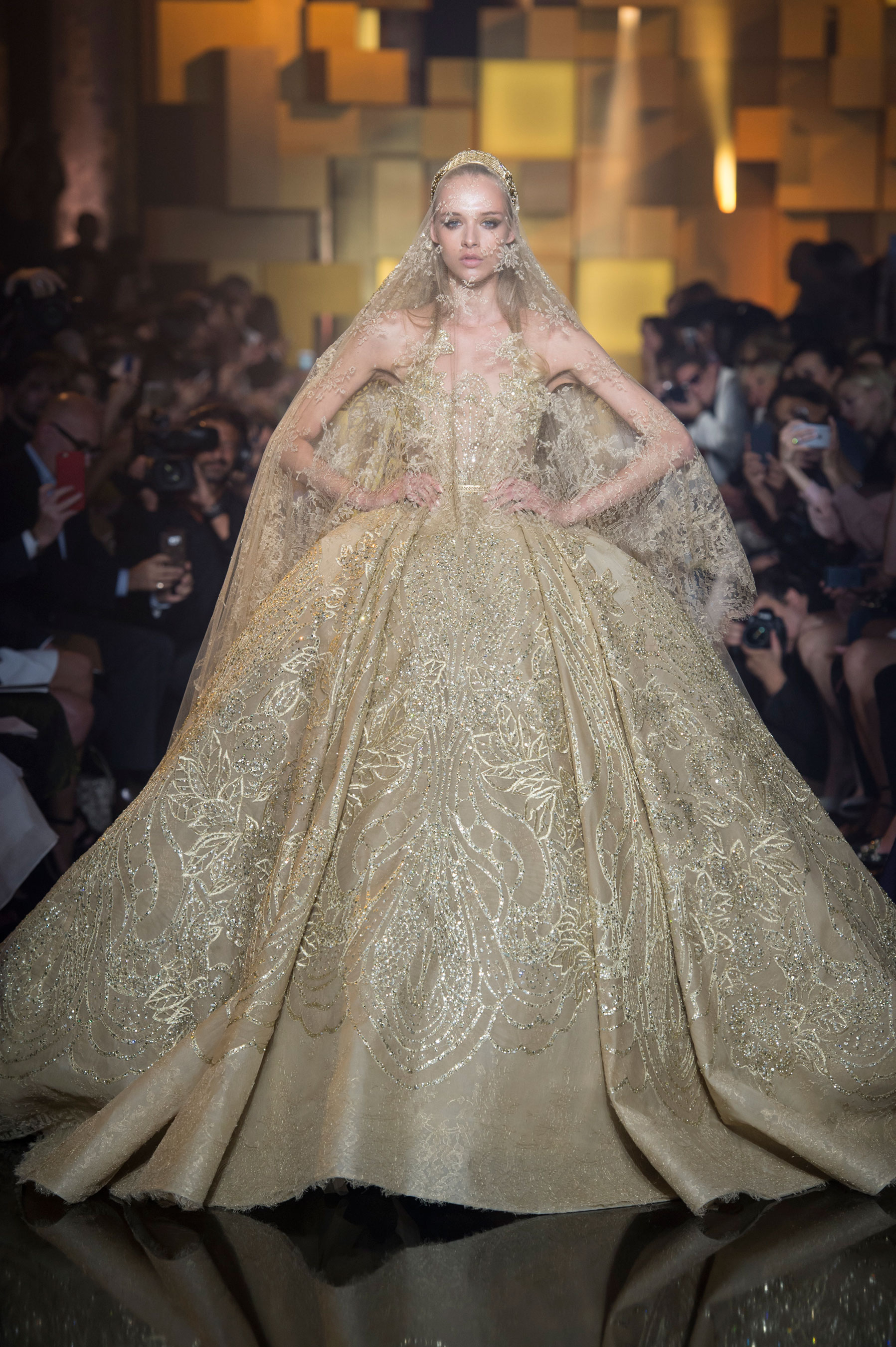 As Per Usual Elie Saab Fashioned A Romantic Collection This Season Why Change Something That Works The Lebanese Designer Paid Tribute To His Wife And Got: Elie Saab Couture Wedding Dress At Reisefeber.org
