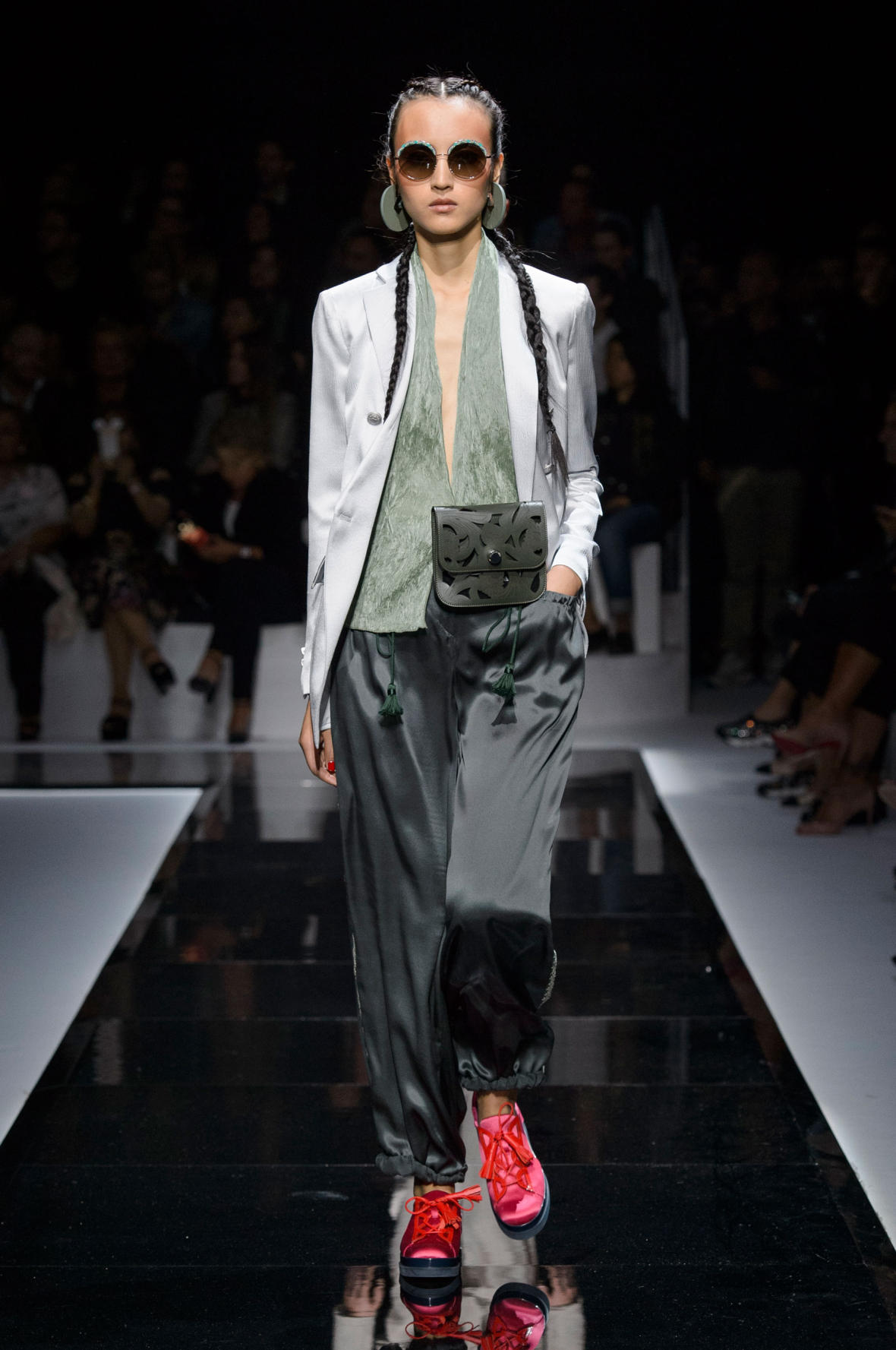920c579d2d5 The elegant blue crush was a recurrent theme at Emporio Armani s runway show