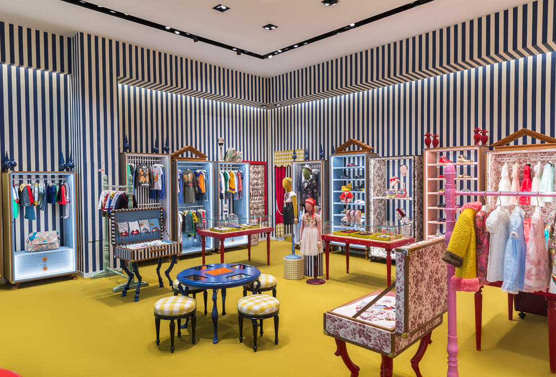 Gucci store for kids